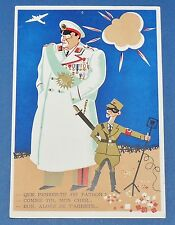 RARE CPA CARTE POSTALE 1944 SATIRIQUE CARICATURE GOERING GOEBBELS