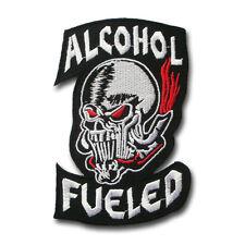 Alcohol Fueled Devil Harley Chopper Biker Rider Motorcycle Vest Patch Iron on V2