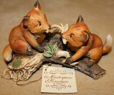 NOS Baby Foxes Masterpiece Collection Figurine 1981 Home Interiors HOMCO #1186