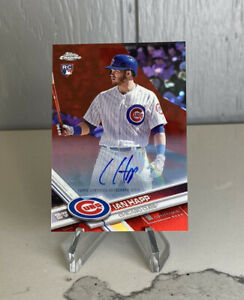 IAN HAPP 2017 TOPPS CHROME UPDATE ROOKIE RC Red Refractor /25 Chicago Cubs