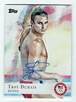2012 Topps USA Olympic Team Autograph #49 Troy Dumais Diving