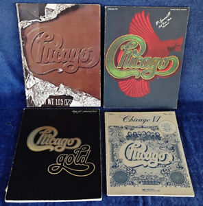 CHICAGO - VI, VIII, X, GOLD - LOT OF (4) SONGBOOKS
