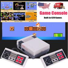 Mini Vintage Retro TV Game Console Classic 620 Built-in Games 2 Gamepad Kid Gift
