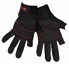 Blackrock 5400400 Machine Work Gloves Fingerless on Index & Thumb High Palm Grip