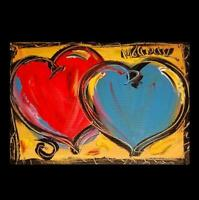 HEARTS POPART  PAINTING  Abstract Modern CANVAS Original Oil  ERY54