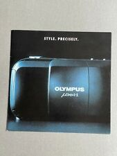 Olympus mju 1 35mm Film  Camera, 8 x 8 inch Paper Brochure, 4 Page Fold Out