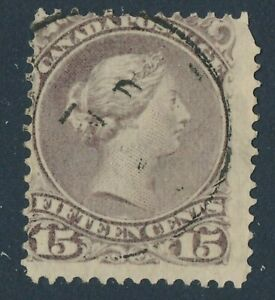 CANADA 1874 USED #29, LARGE QUEEN 15c !! E66