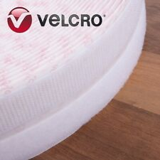 Genuine VELCRO® WHITE Stick On HOOK & LOOP TAPE 20mm x 25m Sticky Wall Fastener