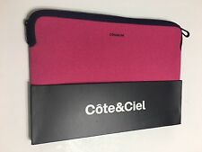 "Brand New Côte&Ciel Fuschia Pink Sleeve Carry Case Bag Zip Around Mac Book 13"""