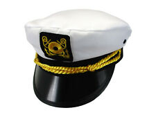Adult Yacht Boat Captain Hat Navy Cap Ship Sailor Costume Party Fancy Dress ZH6
