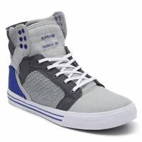 Supra Men's Skytop Hi Top Sneaker Shoes Light Grey/Royal-White Footwear Casual S