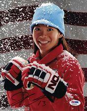 Julie Chu Hockey Signed 8x10 Auto PSA Team USA Womens Montreal Stars Harvard