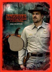 Stranger Things Upside Down, Costume Relic Card, Jim Hopper Uniform Shirt 09/50