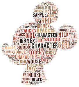 word art picture personalised gift present keepsake ANY SHAPE Via Email Next day