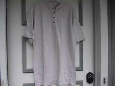"""mens medium t shirt RedHead Beige 4 buttons short sleeve 21"""" side length"""