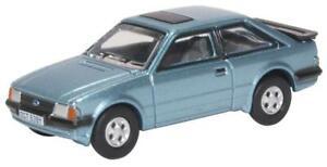 OXFORD DIECAST 1/76 1982-1983 FORD ESCORT MKIII M3 XR3i IN CASPIAN BLUE 76XR006