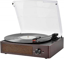 Vinyl Record Player Bluetooth Belt-Driven 3-Speed Turntable, Vintage Retro with