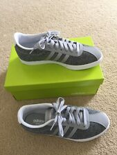 NIB ADIDAS Authentic Neo Courtset W Sneakers Women's Gray Size 8M