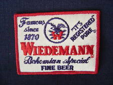 WIEDEMANN BEER SEW ON PATCH NEWPORT KY ORIGINAL VINTAGE NEW OLD STOCK