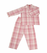 PYJAMA SUIT PINK CHECKS 100% COTTON 3-10 yrs