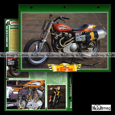 #063.01 Fiche Moto HARLEY-DAVIDSON XR 750 DIRT TRACK '92 Motorcycle Card