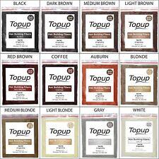 Hair Building Fiber Refill Bag 100% Natural 12 Color - Topup Hair Loss Concealer