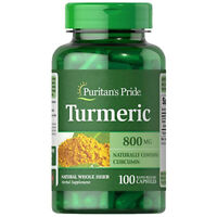 Turmeric 800mg Antioxidant Naturally Contains Curcumin 100 CAPS Puritan's Pride