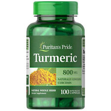 Turmeric 800mg Antioxidant Naturally Contains Curcumin 100 CAPS Puritan's Pride