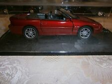 WELLY~1/25~1996~CHEVROLET CAMARO Z 28 CONVERTIBLE~RED~W/display case