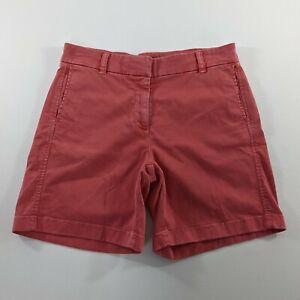 J.Crew Pink Chino Khaki Shorts Womens Size 4