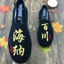 Mens Chinese Character Embroidered Casual Shoes Breathable Slip On Loafers Wen99