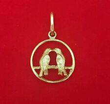 NEW 9ct Yellow Gold Love Birds Pendant 375 Charm 9KT Free Shipping Options