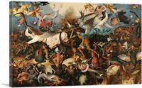 The Fall of the Rebel Angels 1562 Canvas Art Print by Pieter Bruegel the Elder