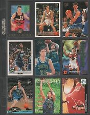 CHRISTIAN LAETTNER ~ Lot of (9) Different Basketball Cards w/ Display Sheet L170