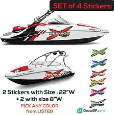 SEADOO Kit set of 4  SEA DOO SPEEDSTER SPORTSTER CHALLENGER BOAT STICKERS decals