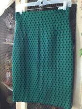 NWT H&M Green and Black Dot Pencil Skirt Sz 8