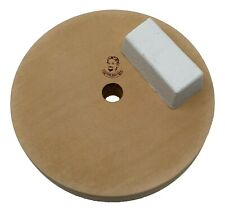 """7"""" (3/4"""" Width) Leather Honing Wheel - Fits 5/8"""" Arbor - Buffing Compound Incl"""