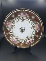Nippon Hand Painted Plate with Gilding Floral & Moriage