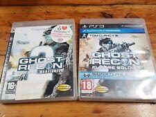 PS3 lote Tom Clancy's Ghost Recon Advanced Warfighter 2 y Future Soldier PAL Esp