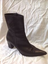 Dr. Adam's Black Ankle Leather Boots Size 41