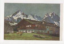 Carl Reiser Bauernhof Im Werdenfelder Lande Vintage Art Postcard 313a