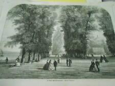 Gravure 1860 - Le Parc de Saint Cloud Paris