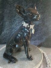 More details for chihuahua luxury statue, in high gloss black with beautiful crystal collar