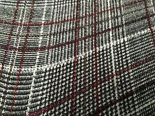 Tartan Rouge Bundle restes Patchwork Tissu 100/% Britannique Laine 100 G