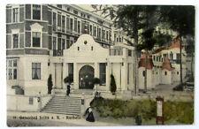 Ostseebad SELLIN auf Rügen - KURHALLE, Kurhaus Eingangsportal - gelaufen 1912