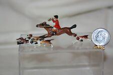 Miniature Dollhouse FABULOUS English Fox Hunt Figurine Horses/Dogs 1:12 NR