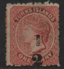$Turks Islands Sc#12 unused, fine, no gum, Cv. $260