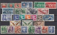 R4151/ SWITZERLAND – 1928 / 1934 USED SEMI MODERN LOT – CV 370 $
