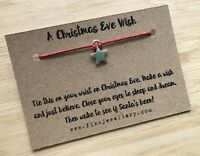 Christmas Eve Star Tie On Message Card Wish Bracelet Xmas Eve Box Boxes Filler
