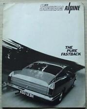 SUNBEAM ALPINE H120 FASTBACK LF Car Sales Brochure 1970 #6008/H